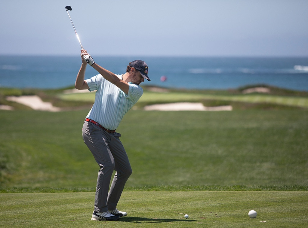 Shep Rose -  The  Southern Charm  star enjoys a round of golf with close friends including co-star Austin Kroll during the U.S. Open Preview Day at Pebble Beach.