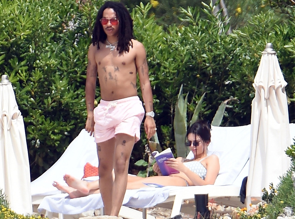 Just Peachy -  Luka and Kendall escape to the pool to tan ahead of the summer.