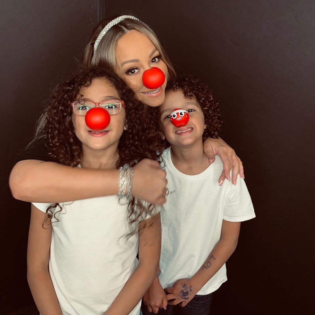Mariah Carey -  A family who celebrates Red Nose Day together, stays together.