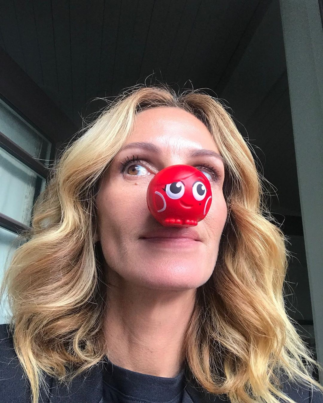 Julia Roberts -  The Pretty Woman  actress dons her red nose for a good cause.