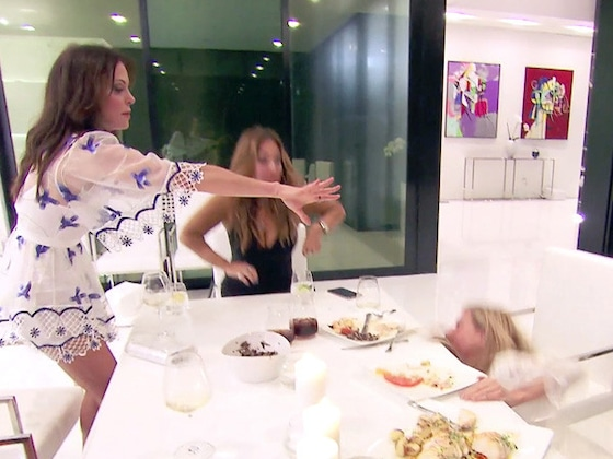 "Watch Bethenny Frankel Revive ""Go to Sleep!"" for Sonja Morgan...Who Instead Falls to the Floor"