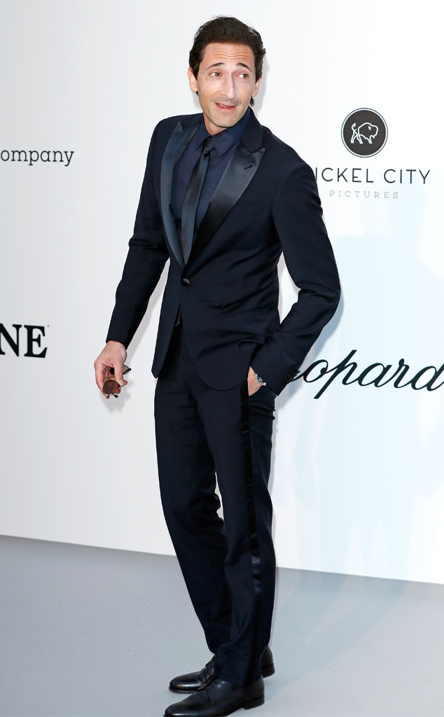 Adrien Brody -  A classic suit and tie on a handsome Hollywood actor never goes out of style.