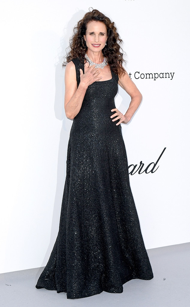 Andie MacDowell -  Diamonds are a girls' best friend and we've got our eyes on the actress' beautiful necklace.