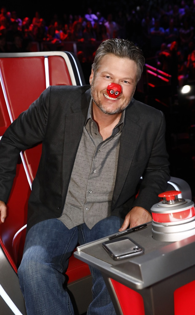 Blake Shelton -  Country singer lends his Voice  to a good cause in honor of the Red Nose Day.