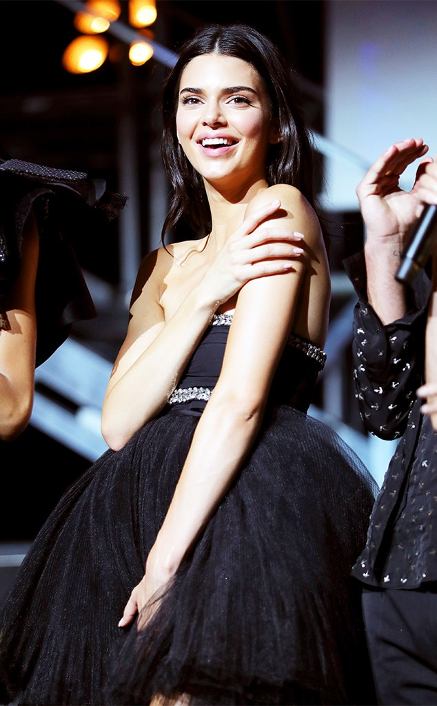 Little Black Dress -  A quick outfit change later and the 23-year-old is ready to bring some glam to the amfAR stage.