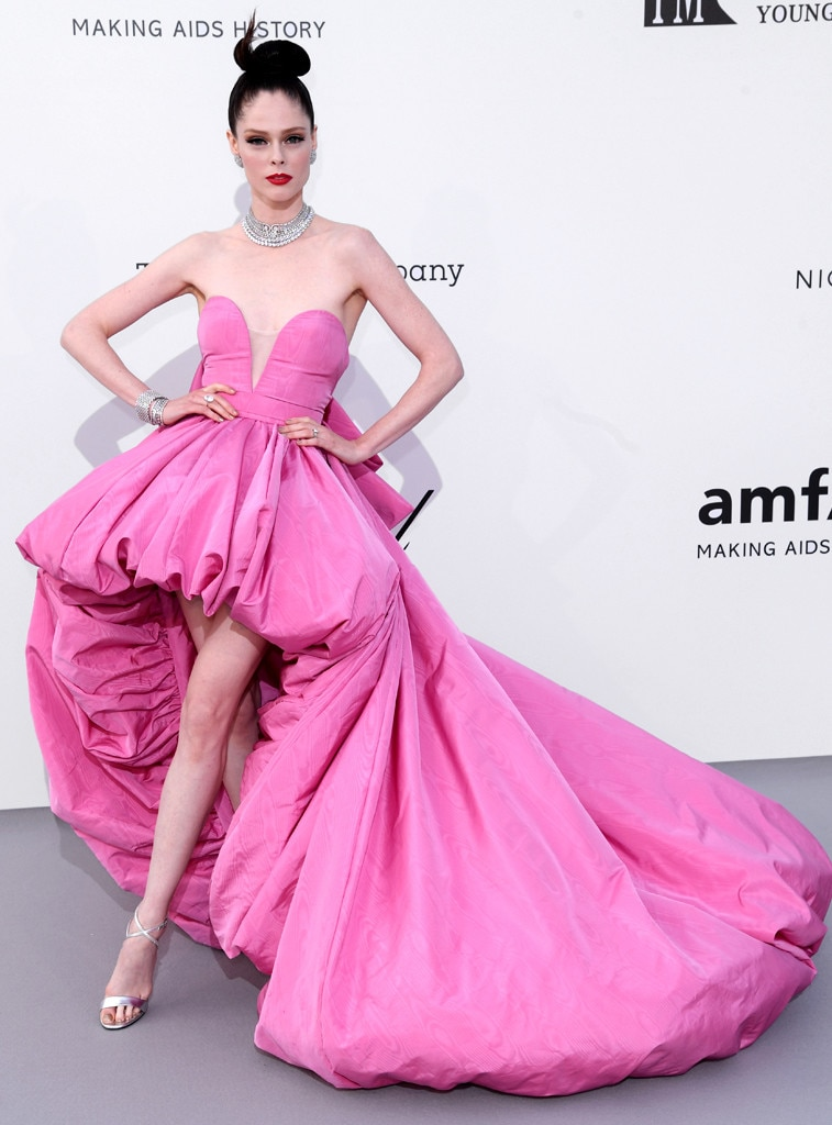 "Coco Rocha -  ""Sometimes a dress needs a van. Sneak peek of tonight's #amfarcannes look!"" the model shared on  Instagram  before revealing her Ashi Studio look."