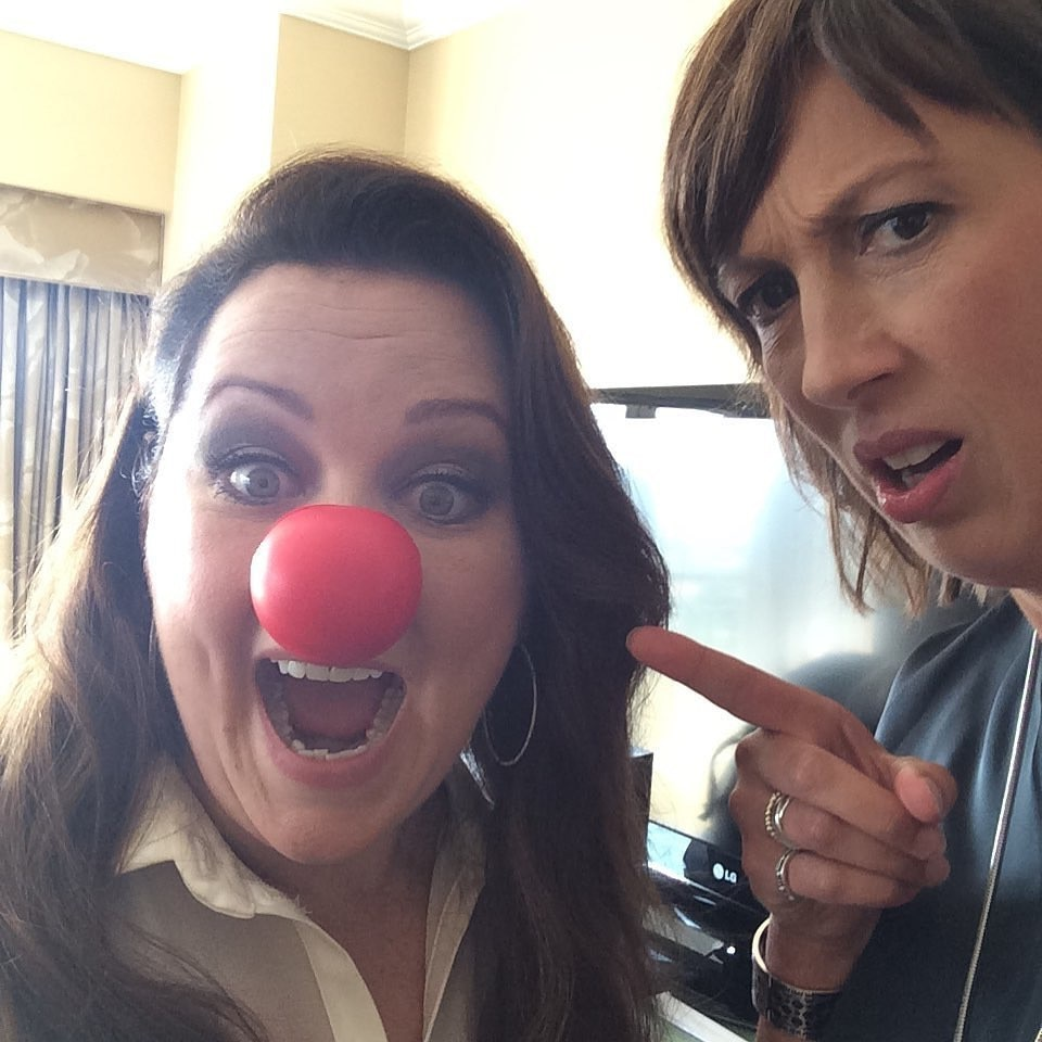 Melissa McCarthy -  A glam smokey eye an flawless contour wouldn't be complete without a chic red nose.
