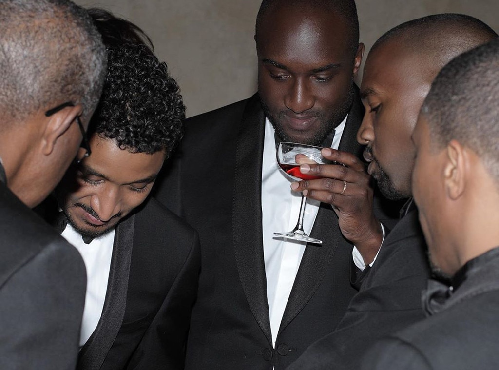 Cheers to the Happy Couple - Virgil Abloh  and friends crowd around Kanye on his and Kim's special day.