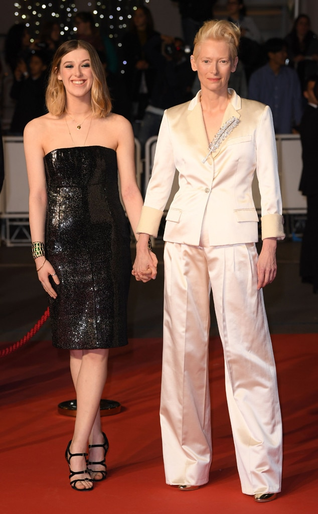Tilda Swinton & Honor Swinton Byrne -  Dazzling the red carpet with their flashy ensembles, Swinton brings her daughter, Honor, for the special ocassion.