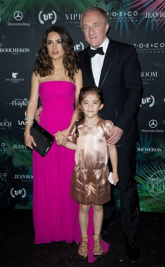 Salma Hayek, Francois Pinault, Valentina, Celeb Kids at Cannes Film Festival