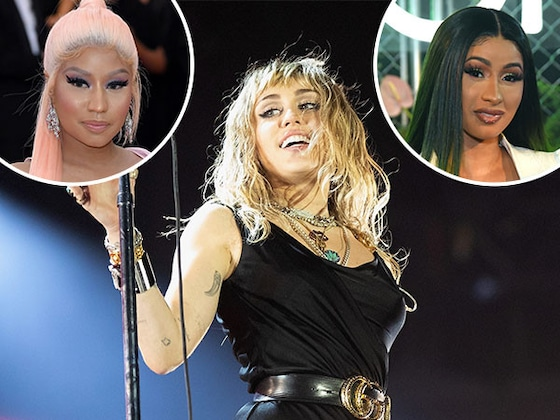 "Miley Cyrus Raps About Nicki Minaj and Cardi B in New Song ""Cattitude"""