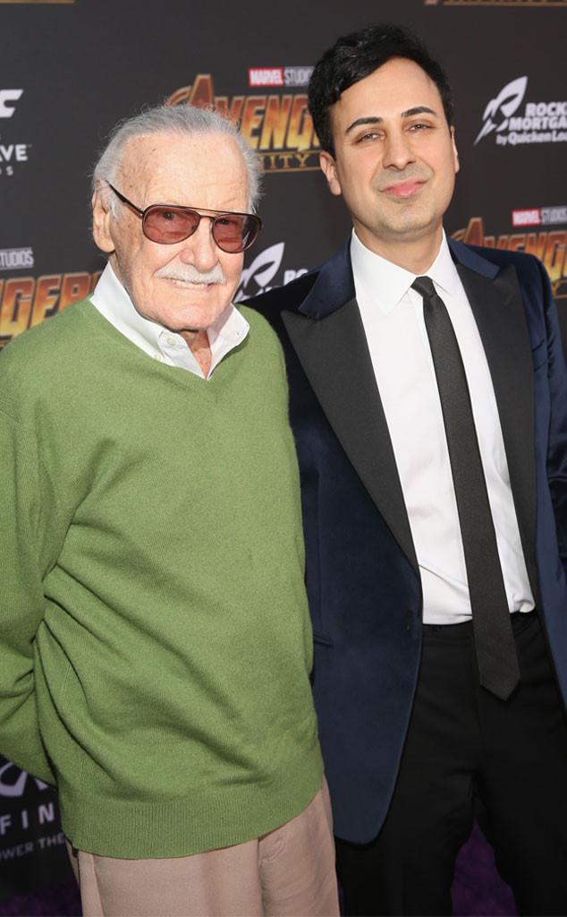 Stan Lee, Keya Morgan, Avengers Global World Premiere