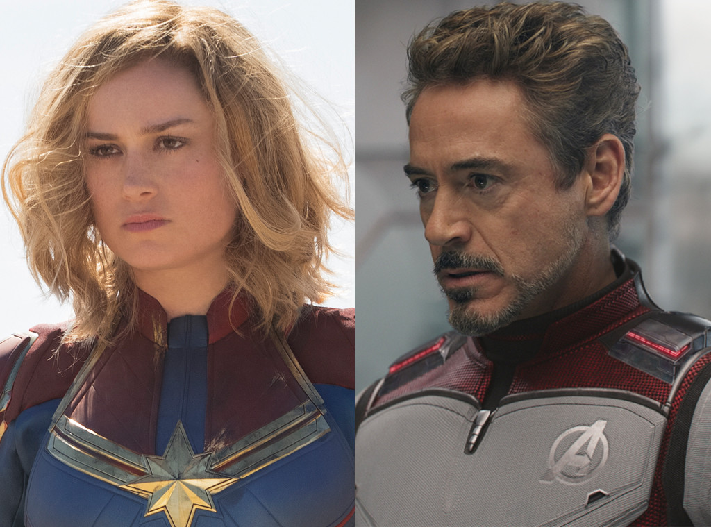 Robert Downey Jr. & Brie Larson, Captain Marvel, Avengers End Game