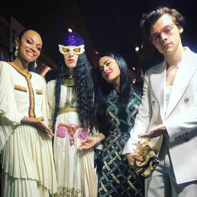 Harry Styles, Instagram, Salma Hayek, Zoe Saldana