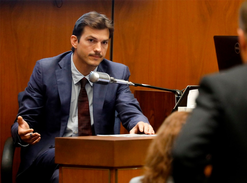 Kutcher testifies he knocked on slain woman's door in 2001