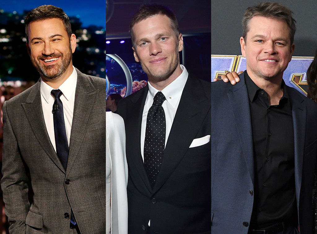 Jimmy Kimmel, Tom Brady, Matt Damon