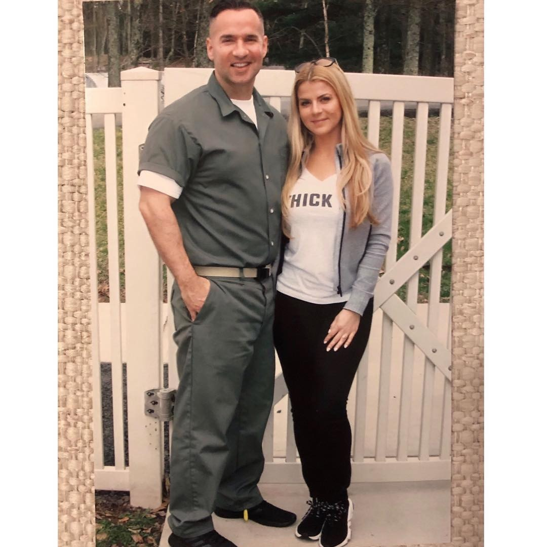 "Love lasts -  The  Jersey Shore  star smiles next to his wife while wearing his prison suit. ""Tough Times Don't Last, Tough People Do,"" he captioned the picture on Instagram."