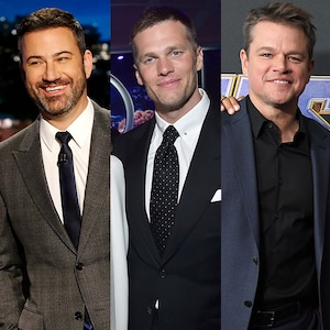 Jimmy Kimmel, Tom Brady, Matt Damon