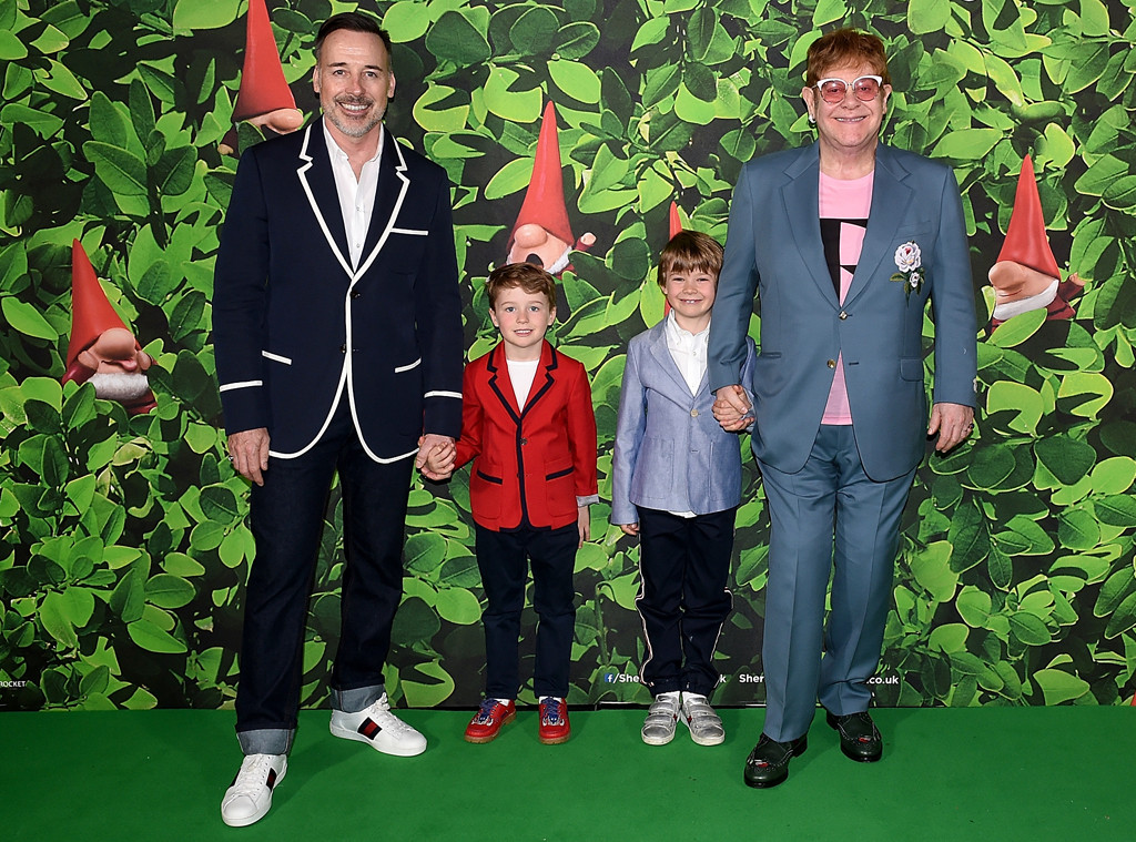 David Furnish, Elijah Furnish-John, Zachary Furnish-John, Sir Elton John