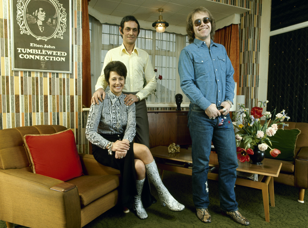 Elton John, Sheila, Fred Fairebrother, 1971