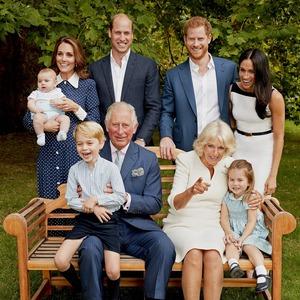 Carlos, William, Harry, Kate, Camilla, Meghan, Charlotte, Louis