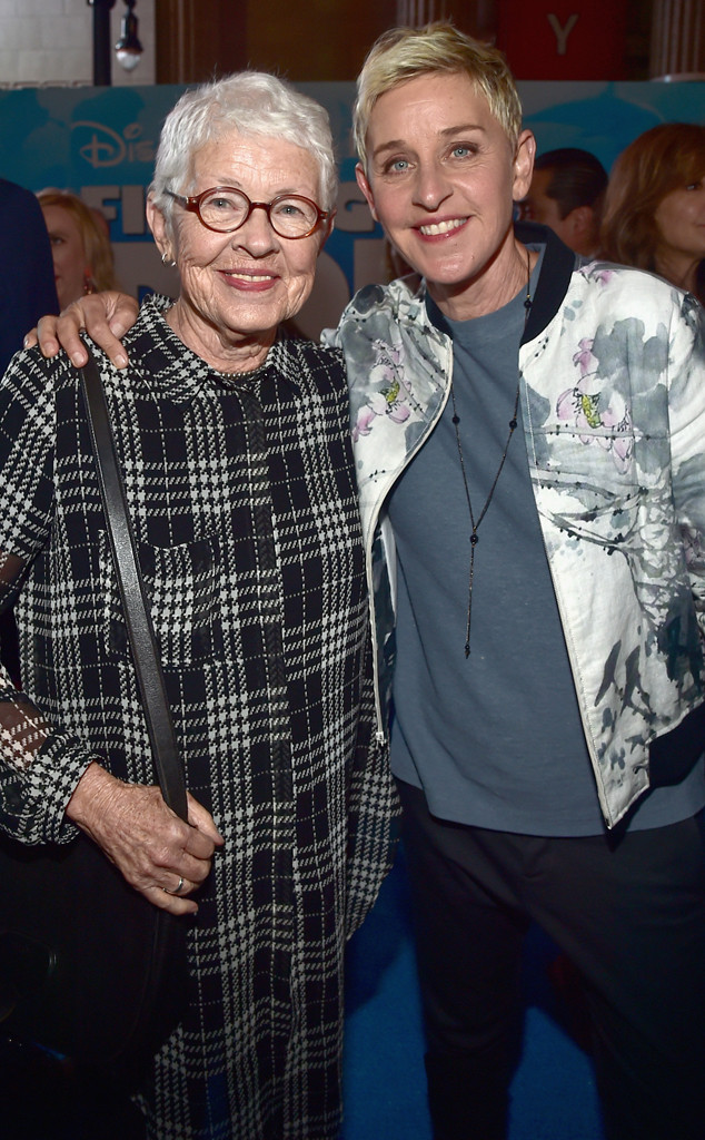 Ellen DeGeneres and mom