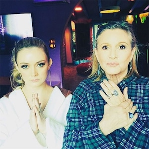 Billie Lourd, Carrie Fisher, 2015