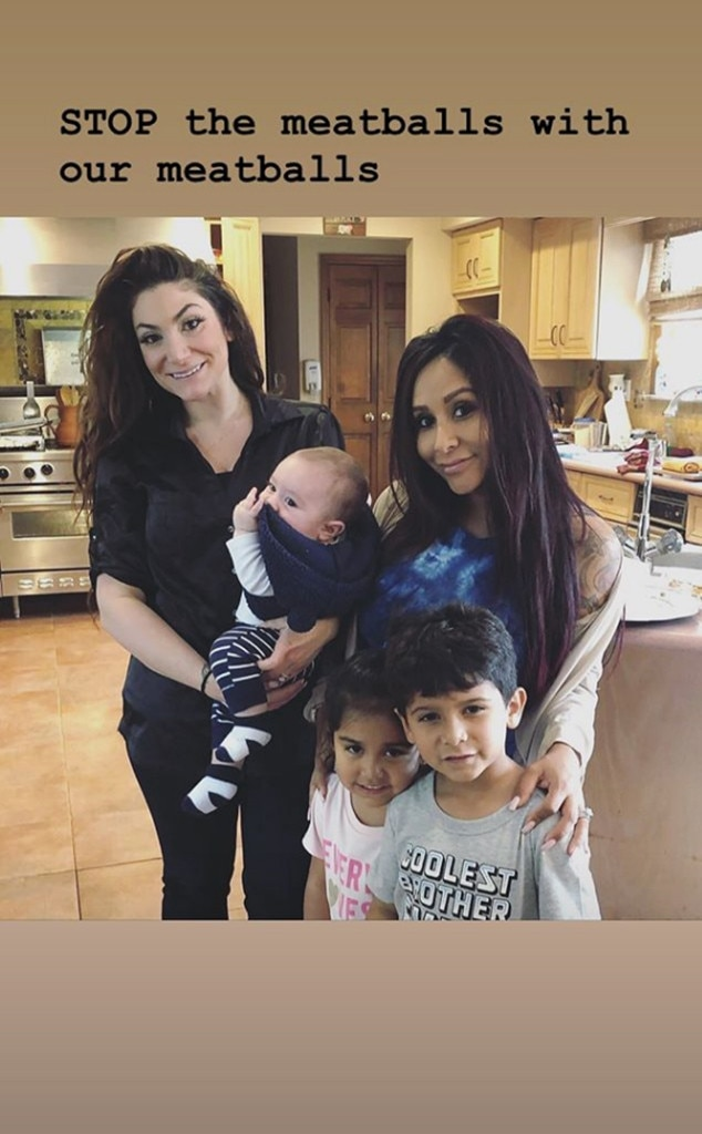 Jersey Shore Kids Unite at Snooki's Baby Sprinkle - E! Online