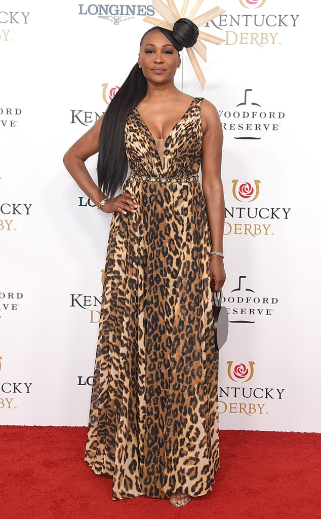 Cynthia Bailey - The Real Housewives of Atlanta  star opts out of a floral pattern and for a leopard-print dress instead.