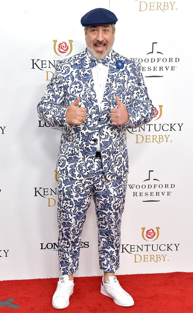 Joey Fatone -  Joey Fatone is not feeling blue at this year's Kentucky Derby.