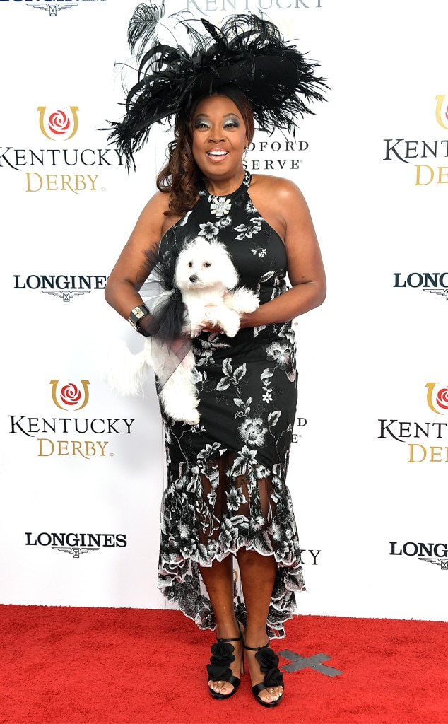 Star Jones -  The former  The View  co-host walks the red carpet at the 2019 Kentucky Derby in a black and white dress with her dog.