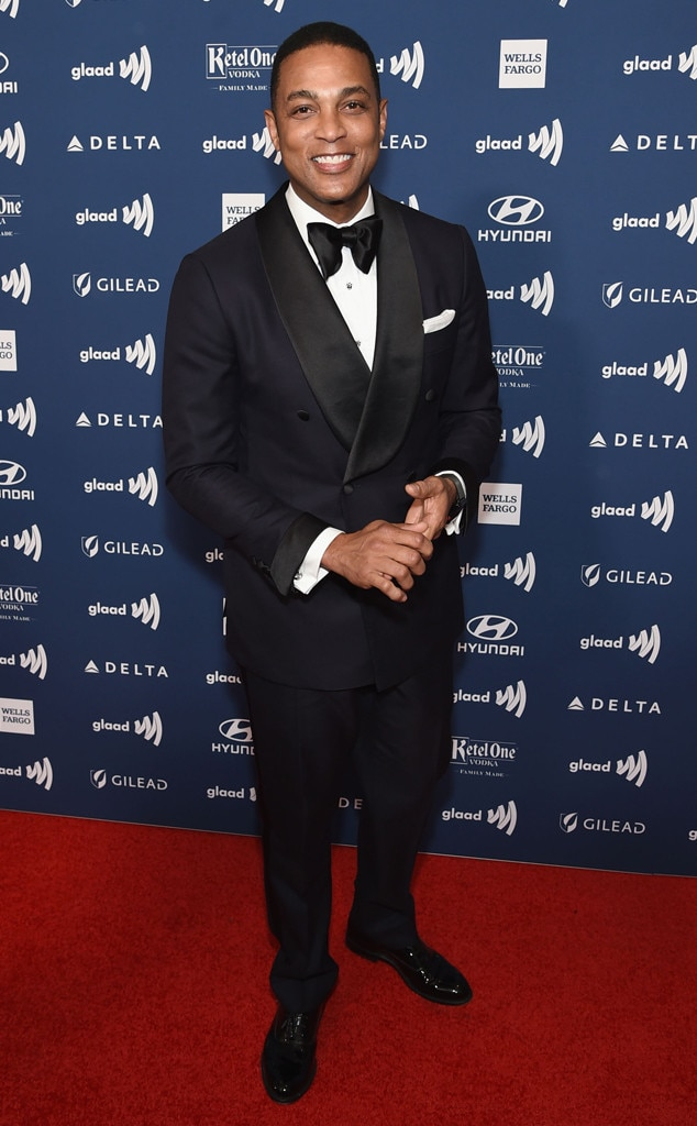 Don Lemon -  The CNN host smiles wide in a navy and black tuxedo.
