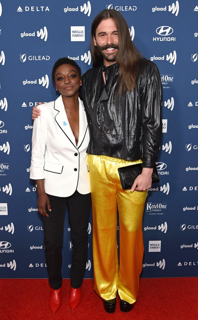 Jonathan Van Ness & Jess Guilbeaux -  The  Queer Eye  star brings season 3 fan favorite Jess Guilbeaux as his date to the GLAAD Media Awards and they both look FAB.