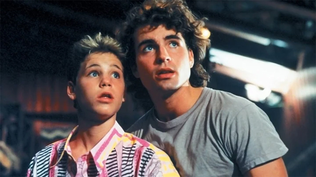 Corey Haim, Jason Patric, Lost Boys, 1987, GIF