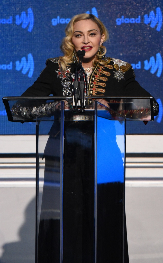 Madonna -  The Queen of Pop gives a speech after accepting her Advocate for Change Award.