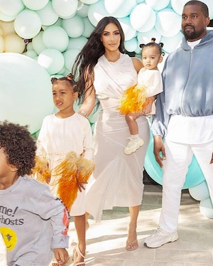 Kim Kardashian, Chicago West, North West, Saint West, Kanye West, True Thompson, Birthday