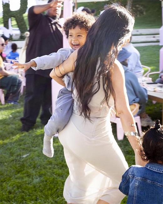 Kim Kardashian, Saint West, True Thompson, Birthday