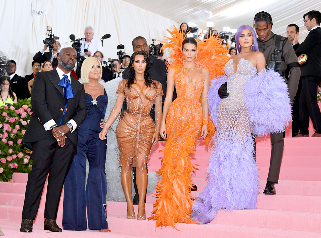 Corey Gamble, Kris Jenner, Kanye West, Kim Kardashian West, Kendall Jenner, Kylie Jenner, Scott, 2019 Met Gala