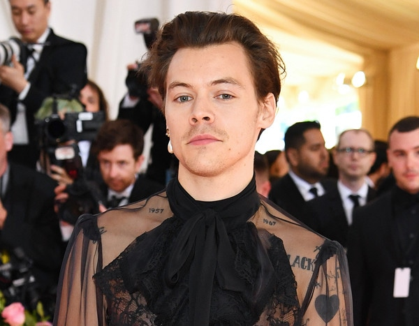 Harry Styles Turns Heads in a See-Through Gucci Top at the ...