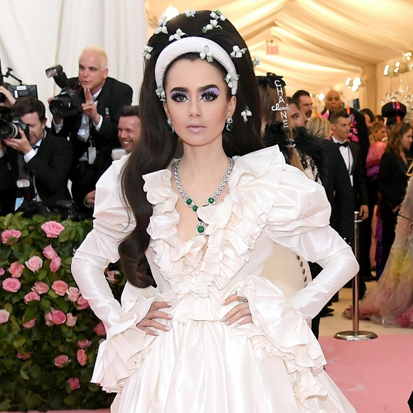 Lily Collins, 2019 Met Gala, Red Carpet Fashions