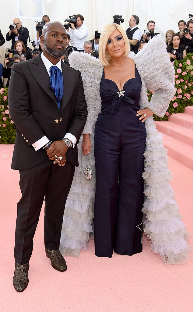Kris Jenner & Corey Gamble -  The famed momager shares a moment with her man in front of the cameras at the 2019 Met Gala.