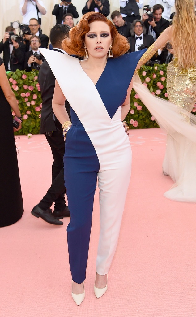 Natasha Lyonne -  The  Russian Doll  star pulled off an epic blue and white jumpsuitthat we can't stop talking about.