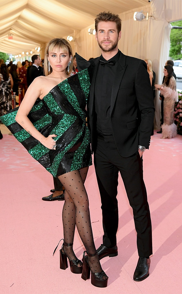 Miley Cyrus & Liam Hemsworth -  The former  Last Song  co-stars and real life newlyweds keep it chic for the pink carpet.