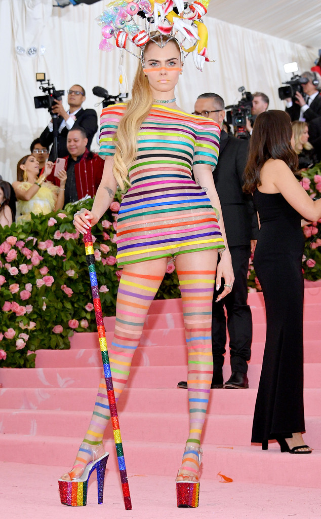 Cara Delevingne, 2019 Met Gala, Red Carpet Fashions