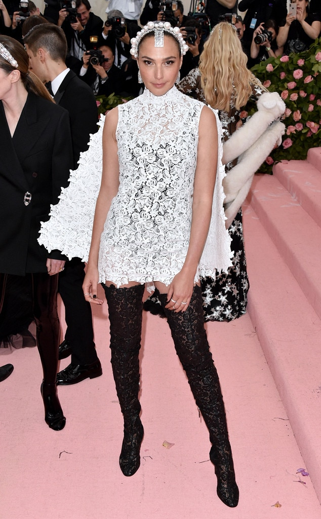 Gal Gadot -  The  Wonder Woman  star served looks while posing at this year's most fashionable event in Givenchy.