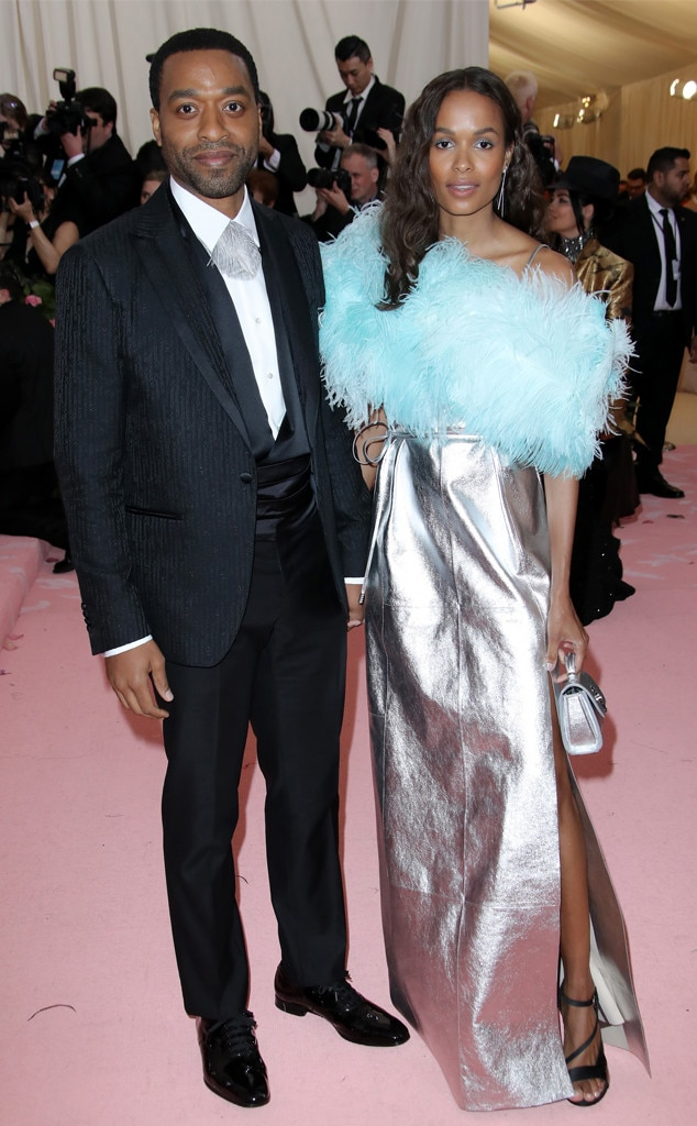 Chiwetel Ejiofor & Frances Aaternir -  The British actor poses with his love at the fashionable bash.