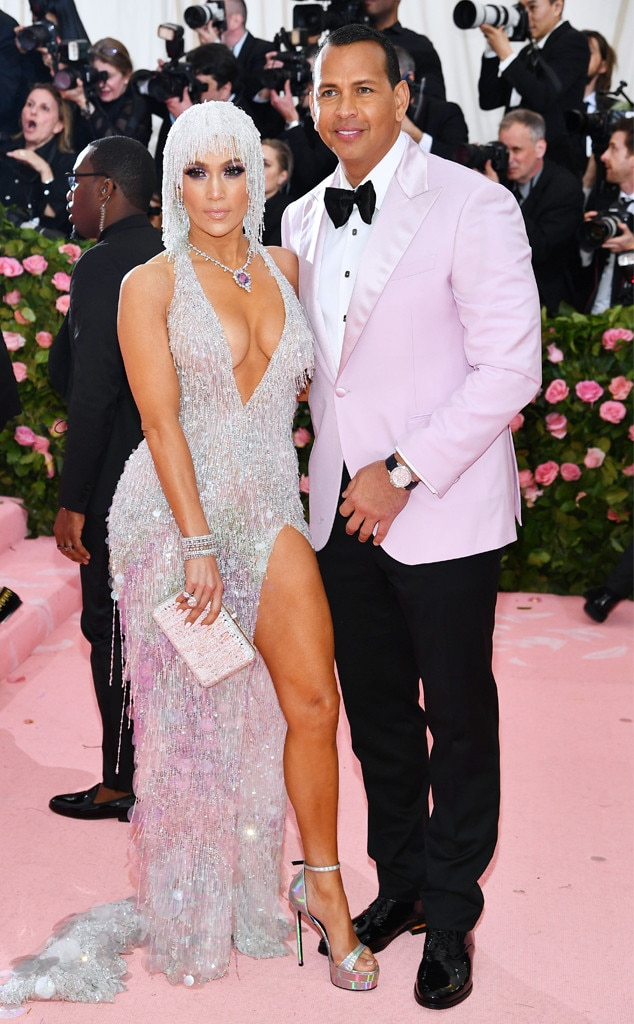 Jennifer Lopez & Alex Rodriguez -  The engaged pair shine bright at the 2019 Met Gala.