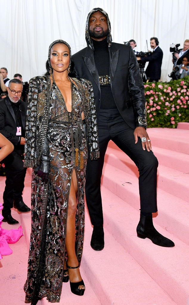 Gabrielle Union & Dwyane Wade -  The veteran actress and American basketball player look regal while approaching the Met Gala.