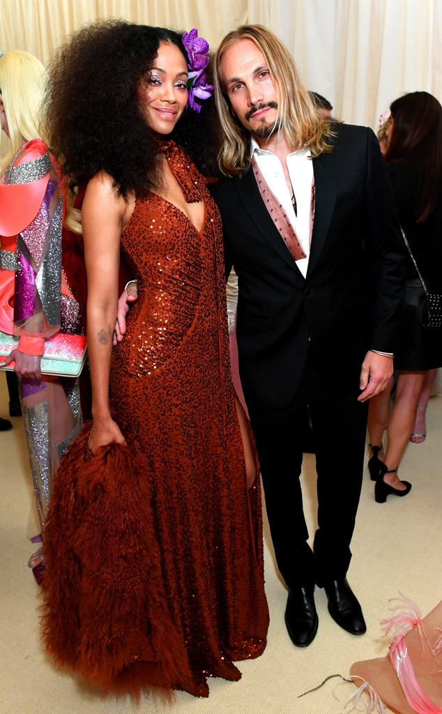 Zoe Saldana Marco Perego From 2019 Met Gala Red Carpet