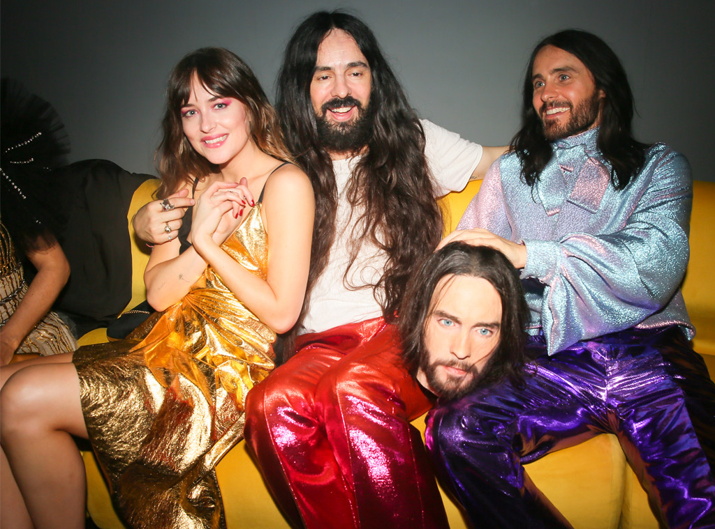 Dakota Johnson, Alessandro Michele, Jared Leto, 2019 MET Gala, After Party